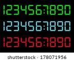 vector set of digital numbers   Shutterstock .eps vector #178071956