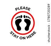 floor sticker sign with foot...   Shutterstock .eps vector #1780720289