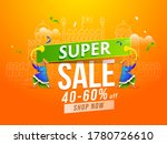 super sale poster design with... | Shutterstock .eps vector #1780726610