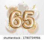 happy 65th birthday gold foil... | Shutterstock . vector #1780734986