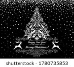 merry christmas and happy new... | Shutterstock . vector #1780735853