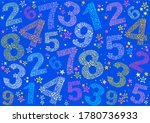 blue seamless background with... | Shutterstock . vector #1780736933