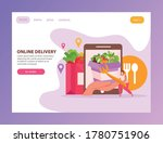 food delivery flat landing page ...