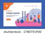 family sport concept banner for ...