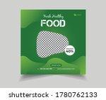editable food and restaurant... | Shutterstock .eps vector #1780762133