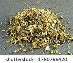 Green Traditional Tea On Dark...