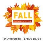fall sale lettering background... | Shutterstock .eps vector #1780810796