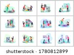 scenes with family doing... | Shutterstock .eps vector #1780812899