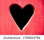 Red Wooden Door With Black...