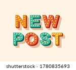new post vector lettering ... | Shutterstock .eps vector #1780835693