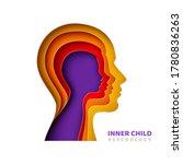 inner child psychology concept. ... | Shutterstock .eps vector #1780836263