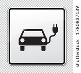 electric charging station sign. ... | Shutterstock .eps vector #1780837139