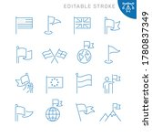 flag related icons. editable... | Shutterstock .eps vector #1780837349