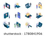 cyber security isometric icons... | Shutterstock .eps vector #1780841906