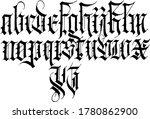 modern full gothic alphabet on... | Shutterstock .eps vector #1780862900