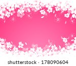 spring background with cherry...   Shutterstock .eps vector #178090604