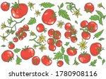 vector hand drawn set of... | Shutterstock .eps vector #1780908116