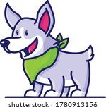 a cute chibi puppy with smile... | Shutterstock .eps vector #1780913156