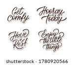 Vector Hand Lettering Set With...