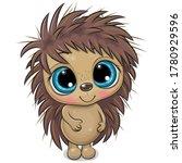cute cartoon hedgehog  isolated ... | Shutterstock .eps vector #1780929596