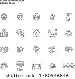 simple set of vector line icons ... | Shutterstock .eps vector #1780946846