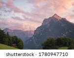 Sunset In The Swiss Alps  Europe