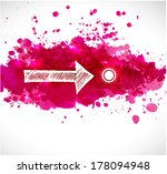 white sketch arrow and bright... | Shutterstock .eps vector #178094948