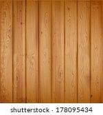 realistic wooden texture.... | Shutterstock .eps vector #178095434