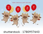 merry christmas and happy new... | Shutterstock .eps vector #1780957643