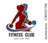 fitness club logo or emblem... | Shutterstock .eps vector #1780957730