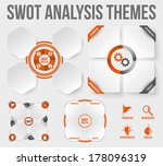 swot analysis themes. scalable...   Shutterstock .eps vector #178096319