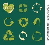 recycling icons set collections.... | Shutterstock .eps vector #178096478