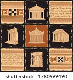 Ancient Greek Banner In The...