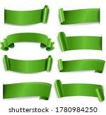 green silk ribbon isolated... | Shutterstock .eps vector #1780984250