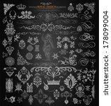 vector. set of vintage elements.... | Shutterstock .eps vector #178099004