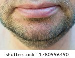 Mature Man\'s Unshaven Chin...