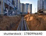 Laying Heating Pipes In A...
