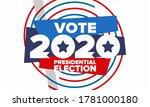 presidential election 2020 in...   Shutterstock .eps vector #1781000180