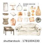 watercolor design elements of...   Shutterstock . vector #1781004230