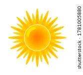 sun icon for weather forecast.... | Shutterstock .eps vector #1781005880