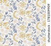 seamless french farmhouse linen ... | Shutterstock .eps vector #1781009909