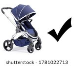 Blue Travel System Isolated On...
