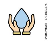 water  hands icon. simple color ...