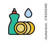 soap  water  plates icon....