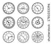 vintage clock faces  vector...   Shutterstock .eps vector #1781033396