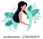pregnant woman. pregnancy and... | Shutterstock .eps vector #1781044379