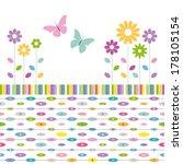 flowers and butterflies... | Shutterstock . vector #178105154