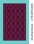 retro window grill pattern... | Shutterstock .eps vector #1781051600