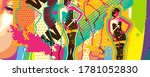 popart style colorful woman... | Shutterstock . vector #1781052830