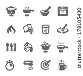 simple set of cooking related... | Shutterstock .eps vector #178105430